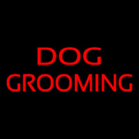 Red Dog Grooming Enseigne Néon