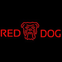 Red Dog Head Logo Beer Sign Enseigne Néon