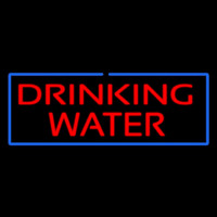 Red Drinking Water With Blue Border Enseigne Néon