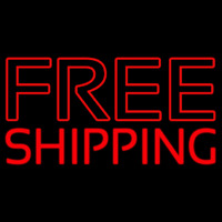 Red Free Shipping Block Enseigne Néon