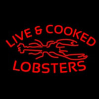 Red Live And Cooked Lobsters Seafood Enseigne Néon