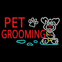 Red Pet Grooming Enseigne Néon