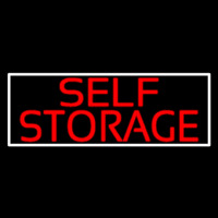 Red Self Storage White Border Enseigne Néon