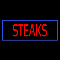 Red Steaks With Blue Border Enseigne Néon