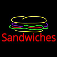 Sandwiches With Sandwich Logo Enseigne Néon