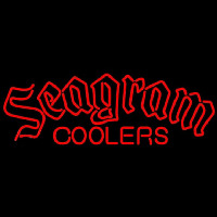 Seagram Logo Wine Coolers Beer Sign Enseigne Néon