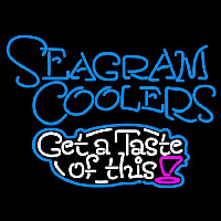 Seagram Test Of This Wine Coolers Beer Sign Enseigne Néon