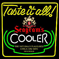 Seagrams Swagjuice Wine Coolers Beer Sign Enseigne Néon
