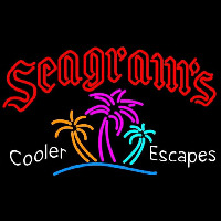 Seagrams Wild Berry Margarita Strawberry Daiquiri Wine Coolers Beer Sign Enseigne Néon