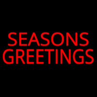 Seasons Greetings Block Enseigne Néon