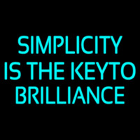 Simplicity Is The Keyto Enseigne Néon