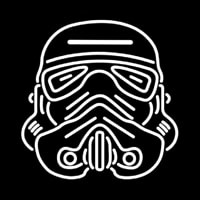 Star Wars Storm Trooper Helmet Enseigne Néon