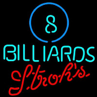 Strohs Ball Billiards Pool Beer Sign Enseigne Néon