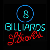 Strohs Ball Billiards Pool Enseigne Néon