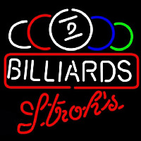 Strohs Ball Billiards Te t Pool Beer Sign Enseigne Néon