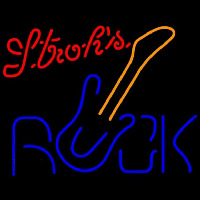 Strohs Rock Guitar Beer Sign Enseigne Néon