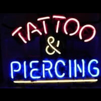 Tattoo and Piercing Parlor Enseigne Néon