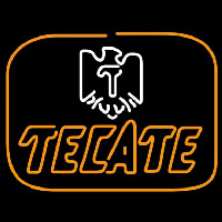Tecate Golden Border Eagle Beer Sign Enseigne Néon