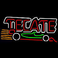Tecate Indy Car Beer Sign Enseigne Néon