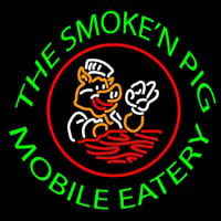 The Smoken Pig Mobile Eatery Enseigne Néon