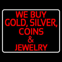 We Buy Gold Silver Coins And Jewelry Enseigne Néon