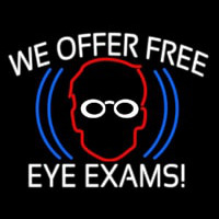 We Offer Free Eye E ams Enseigne Néon