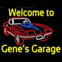 Welcome to Genes Garage Car Logo Enseigne Néon