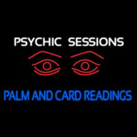 White Psychic Sessions With Red Eye Enseigne Néon