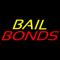 Yellow Bail Red Bonds Enseigne Néon