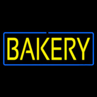 Yellow Bakery With Blue Border Enseigne Néon