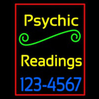 Yellow Psychic Readings With Phone Number Enseigne Néon