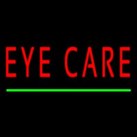 Red Eye Care Green Line Enseigne Néon