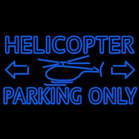 Blue Helicopter Parking Only Enseigne Néon